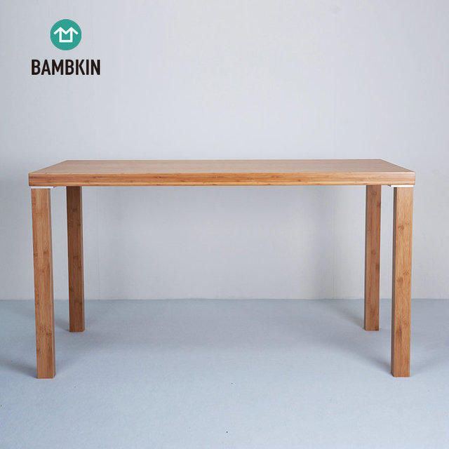 BAMBKIN Bamboo Furniture Rectangelar Kitchen Dining Room Table 100% Natural  Material Manufacturer Conference Desk