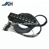 OEM Available 5M 10M 15M 20M 50M 8 Channel Audio Snake Cable With Stage Box