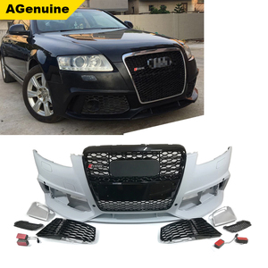 PP plastic RS6 facelift body kit A6 S6 car front bumper with grills conversion body kit for Audi A6 S6 C6