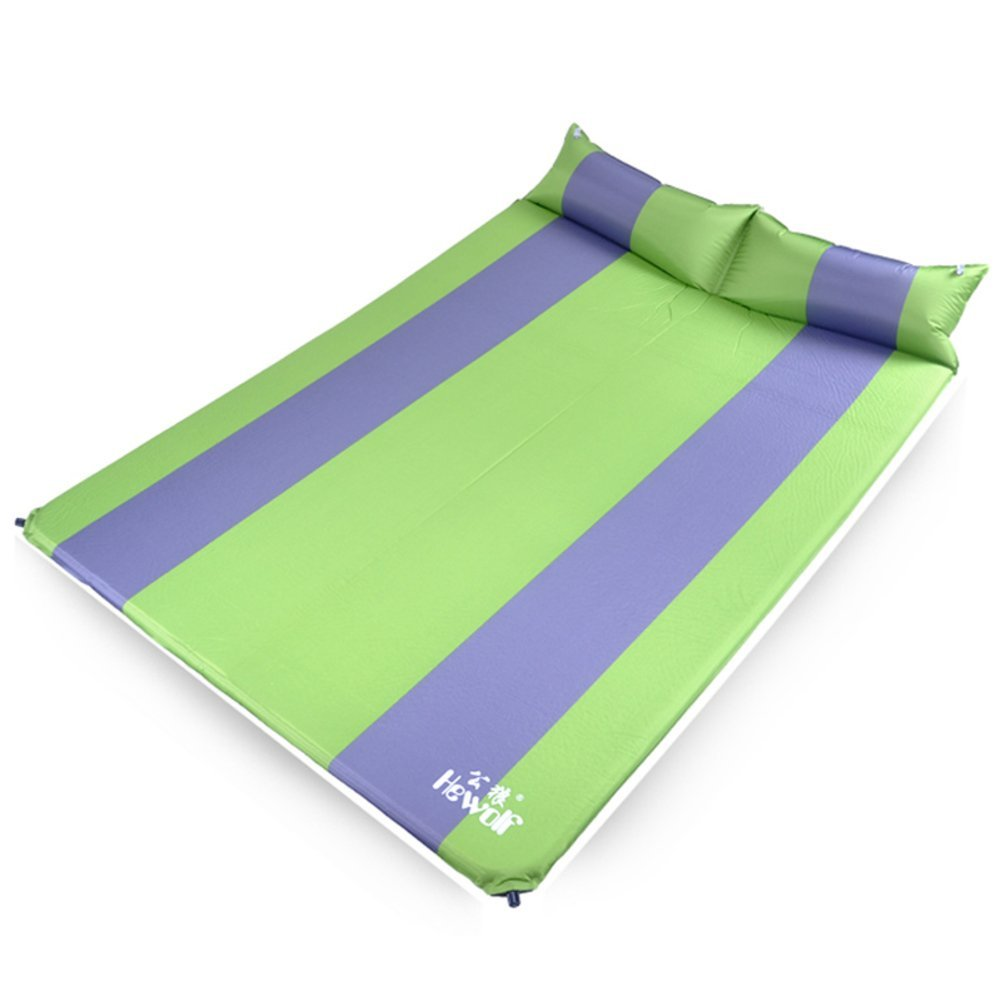 mat/Thickened widening the tent pad and waterproof King size camping/floor mat/ camping mat/Outdoor sleeping pad/Double automatic inflatable cushions-A