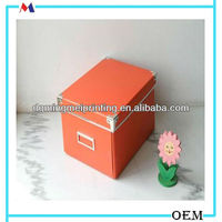 meddle size orange sorting display paper box