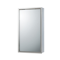 Modern Bathroom Furniture Stainless Steel Chrome Polished Medicine Cabinet Finish Hotel Toilet Mirror Cabinet