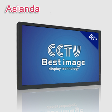 Wall Mount CCTV LCD Monitor Dual Screen PIP With Metal Case