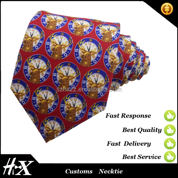 Custom polyester printed twill fabric necktie