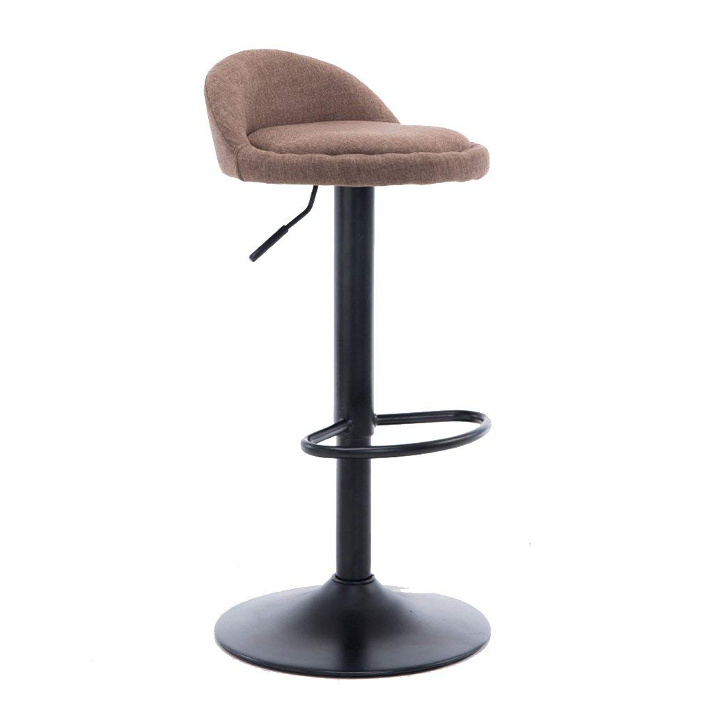 Office stools Breakfast chairs Beauty stools Hairdressing stools Lifting home stools High stools Bar stools Bar stools 306° swivel stools Adjustable height (Color : Brown, Size : 341270cm)