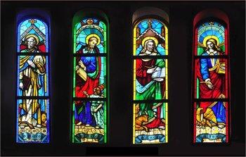 Stained Glass Windows At Gwanack Catholic Church In Suwon