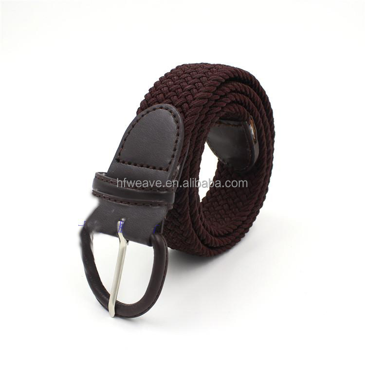 men knit belt elastic belt with snaps