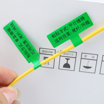 Uitzonderlijk Elektrische Apparaat Plastic Draad Label,Sterke Lijm Plastic Vinyl IG93