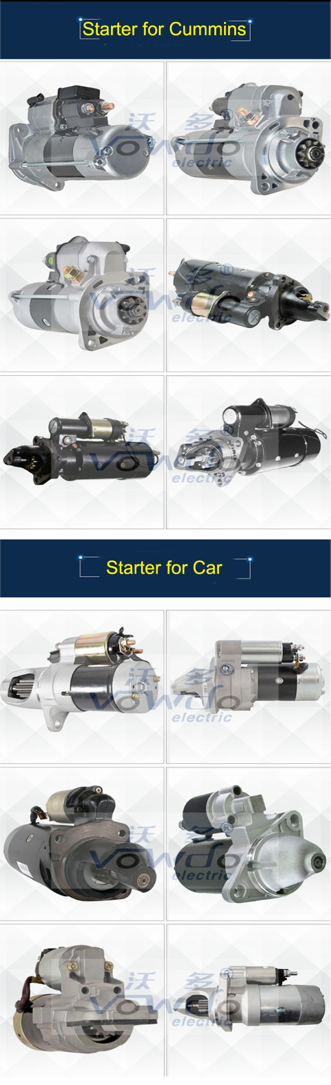 12V brand new Starter OEM NO.2108-3708010 for Russian cars