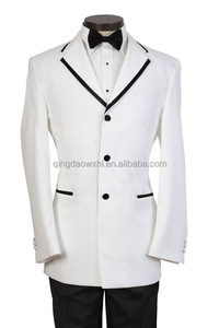 high end bespoke luxury white men suit wedding clothing custom men suit with three buttons