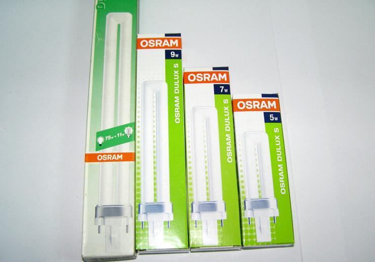 osram dulux s 11w compact fluorescent lamp tube lumilux g23 2 pins bulb 11w 827 warm white 11w. Black Bedroom Furniture Sets. Home Design Ideas