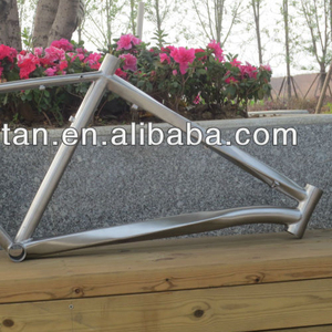 650B titanium bicycle helix frame