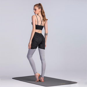 recycled PET bottle leggings high quality running yoga gym sport 3/4 pants