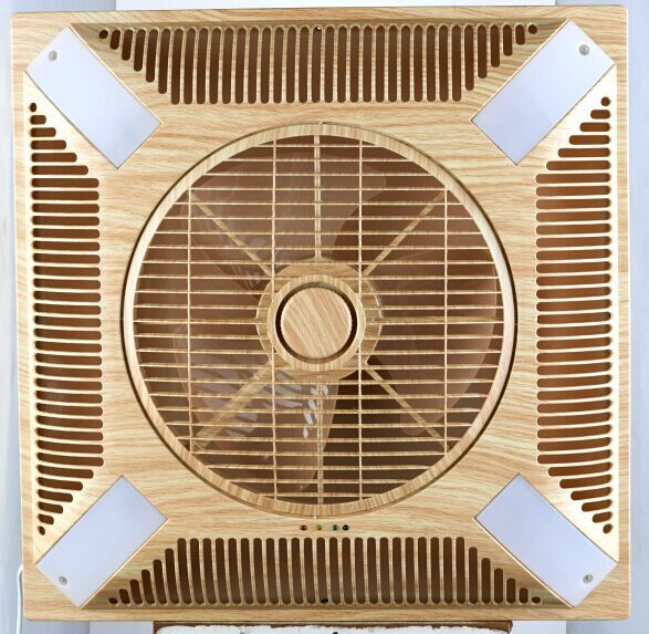 60x60cm Shami Kdk 14 Inch False Ceiling Ventilating Fan With Led Light Wooden Color Saso Gcc To