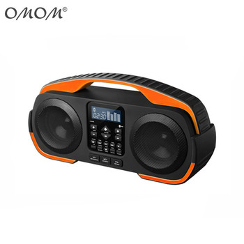 Waterproof boombox speaker with rechargeable battery OM-3808