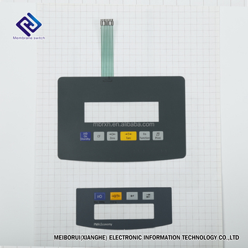 ESD Shield Metal Dome Membrane Switch with Nicomatic Connector