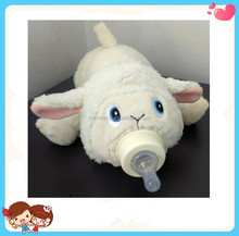 new design custom warm soft funny feeder nursing bottle plush cover cartoon animal