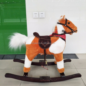 HI CE Kid riding horse toy/kids wooden rocking horse