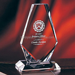 Popular optical k9 crystal award plaque for event's gift