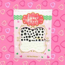 1PC Black White Roses Design Nail Stickers Water Transfer Pattern HCML 019 Kids School Nail Paste