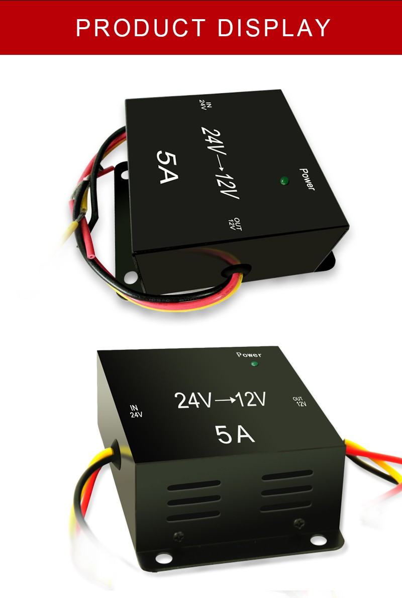 High performance 24 volt dc to 12 volt dc frequency converter