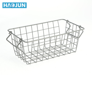 Home kitchen storage used stainless steel metal mesh wire basket