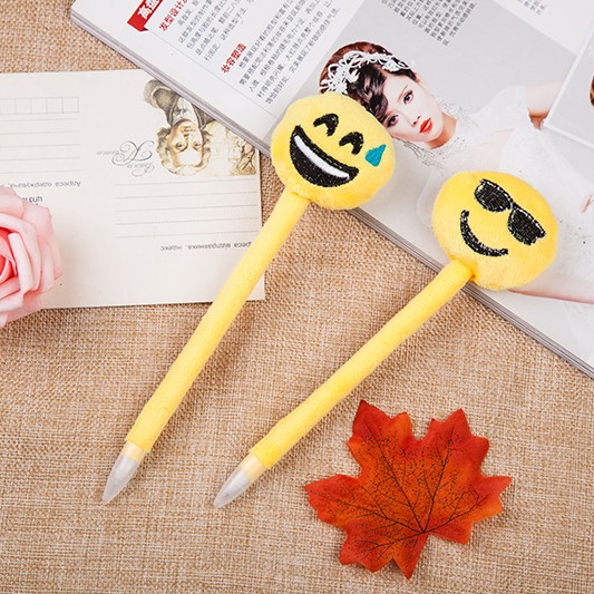 A series of funny emojis plastic holder gift pens and advertizing pens