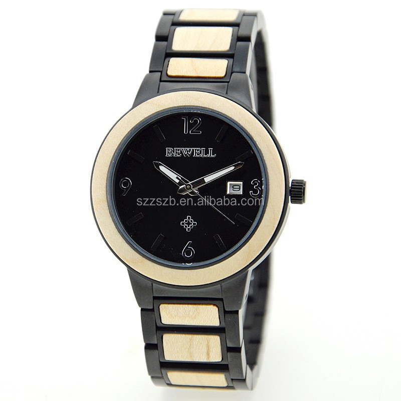 The Eco-Friendly Natural expensive wood <strong>stainless</strong> steel with wood wooden watches
