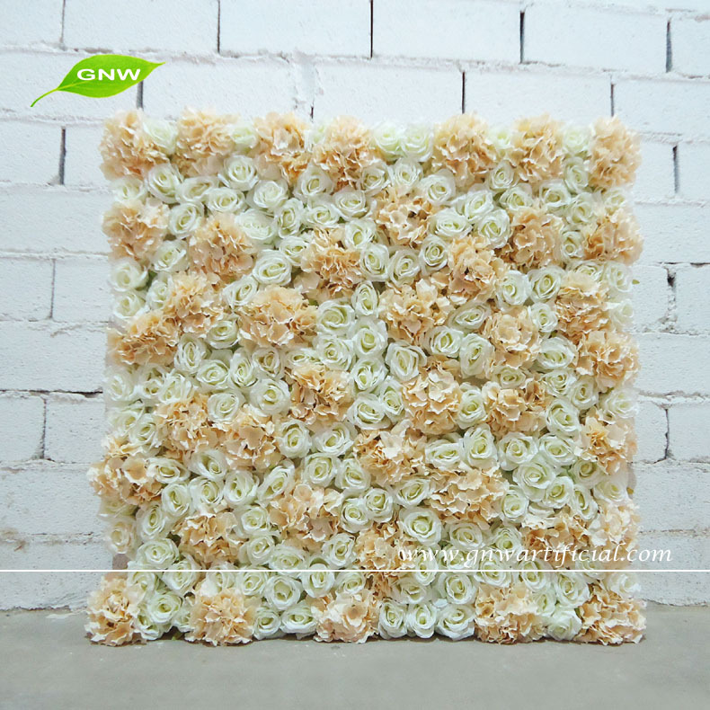 gnw 3ft import china silk flower wall with rose and