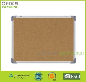 60x90cm aluminum frame cork bulletin board