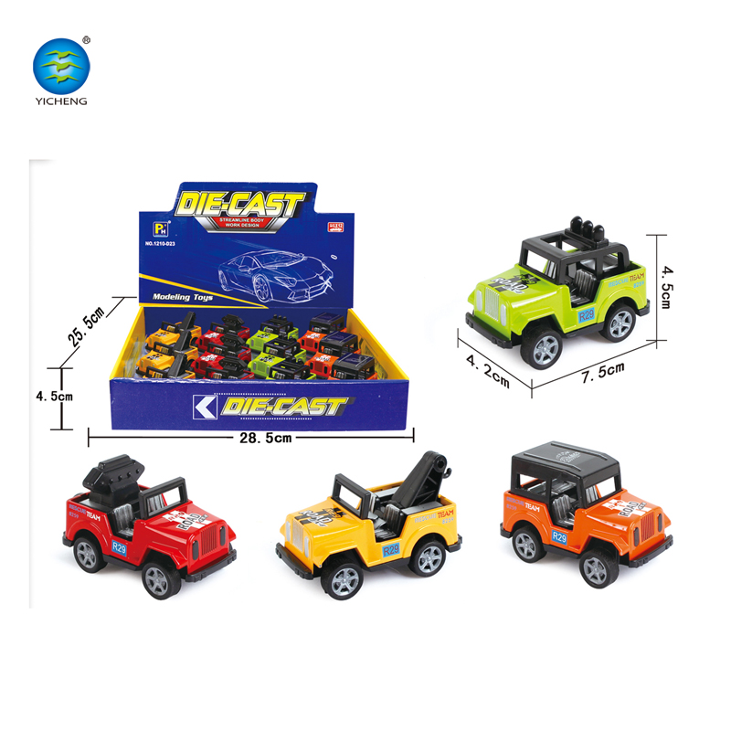 New Arrival 4 Styles Cheap Small Pull Back Die Cast Jeep Car Toys