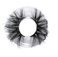 Extra Long 25mm Curly 3D Mink lashes Private Label Packaging