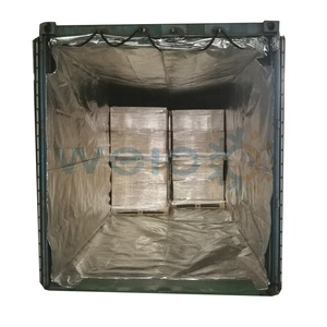 Thermal break insulated shipping container liner