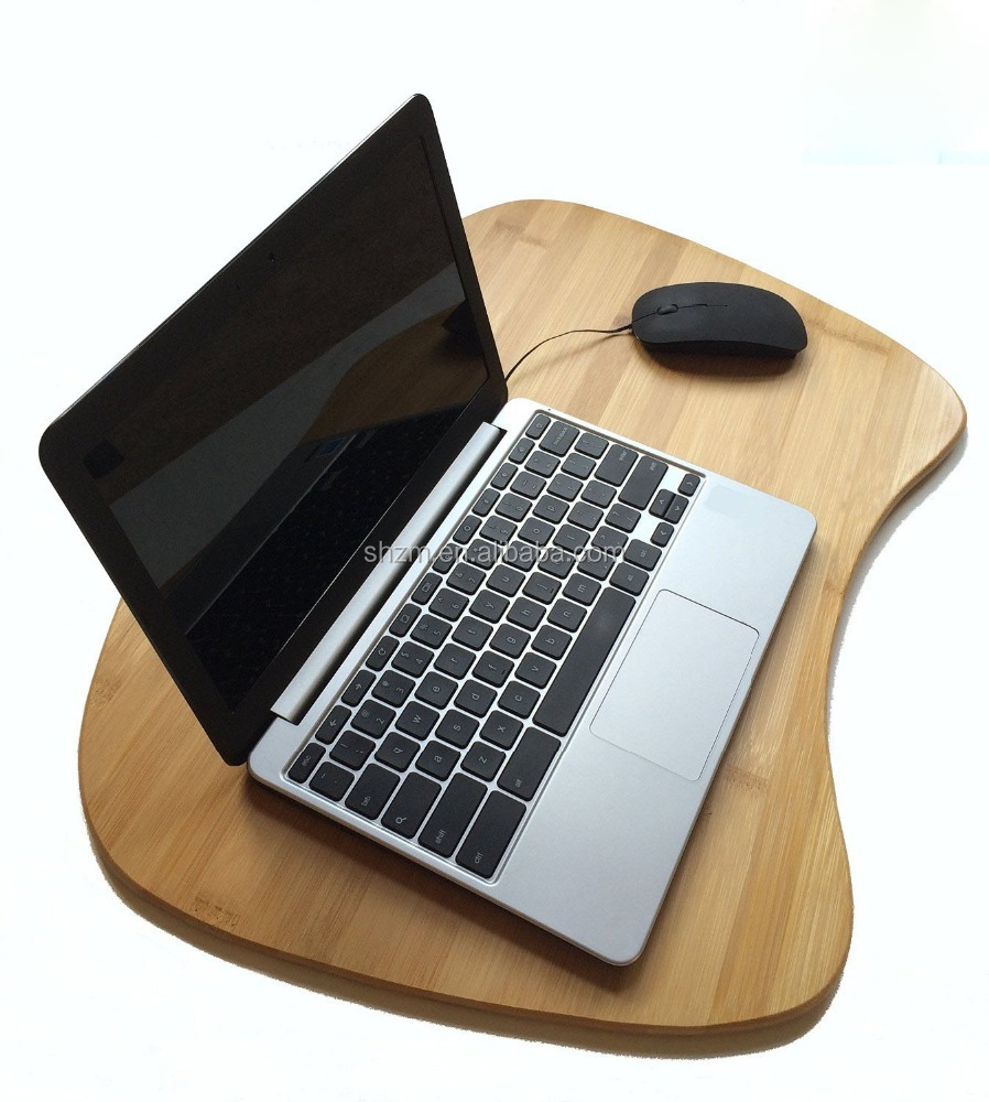 New products Bamboo Lap Desk with Cushion Pad