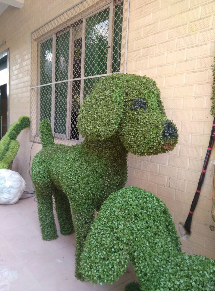 3meter Metal Structure Bear Animal Shape Plants Artificial