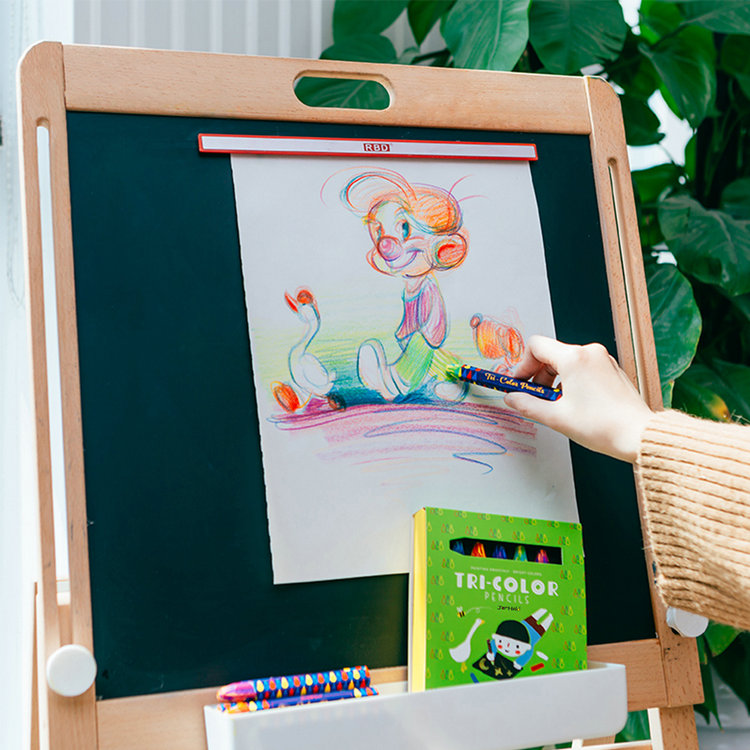 Eco Magic Jumbo Woodless Kids Drawing Art Set Color Pencil with Box