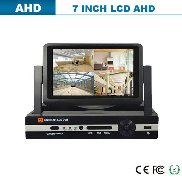 960H 10.1inch all-in-one 4ch LCD DVR Standalone network DVR