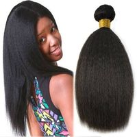 100% real kinky straight weave 10a grade peruvian hair cuticle aligned virgin hair extension human kinky straight hair