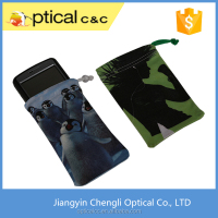 Promotional Soft Microfiber Cell Phone Drawstring Pouch