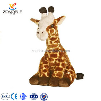 Custom Cuddly Sitting Plush Animal Toy Giraffe Personalized Plush