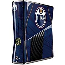 NHL Edmonton Oilers Xbox 360 Slim (2010) Skin - Edmonton Oilers Home Jersey Vinyl Decal Skin For Your Xbox 360 Slim (2010)