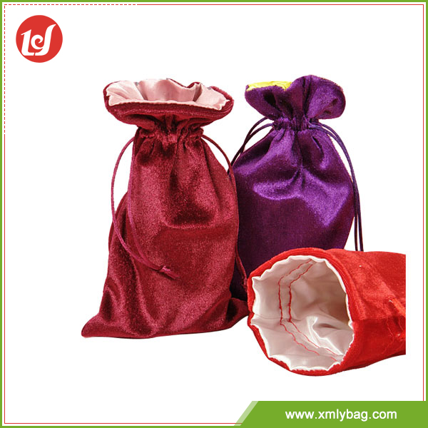 top sale small velvet pouches satin lined velvet bag for jewelry,velvet gift bag