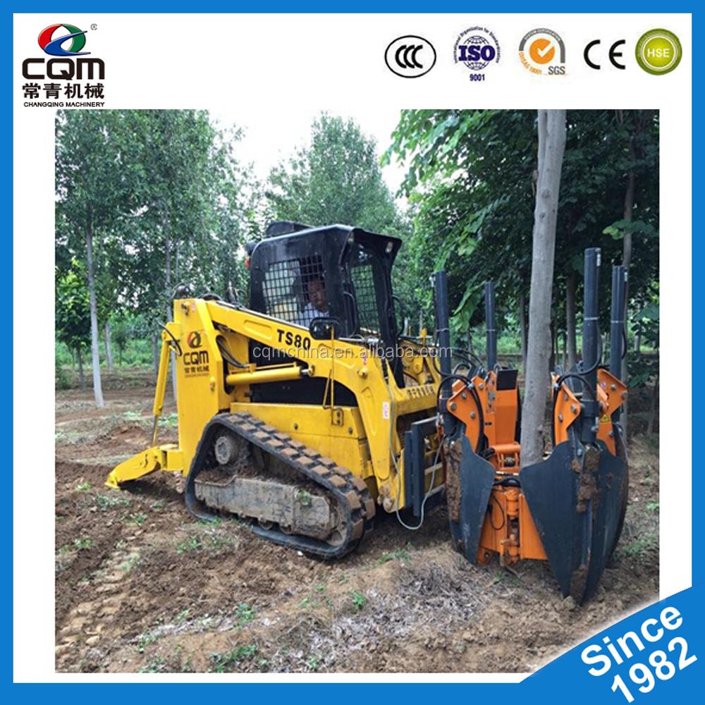 Hydraulic System Tree Uprooting,Tree Transplanting,Tree Spade Mounted On  Skid Steer,Excavator - Buy Hydraulic Tree Mover Machine,Tree
