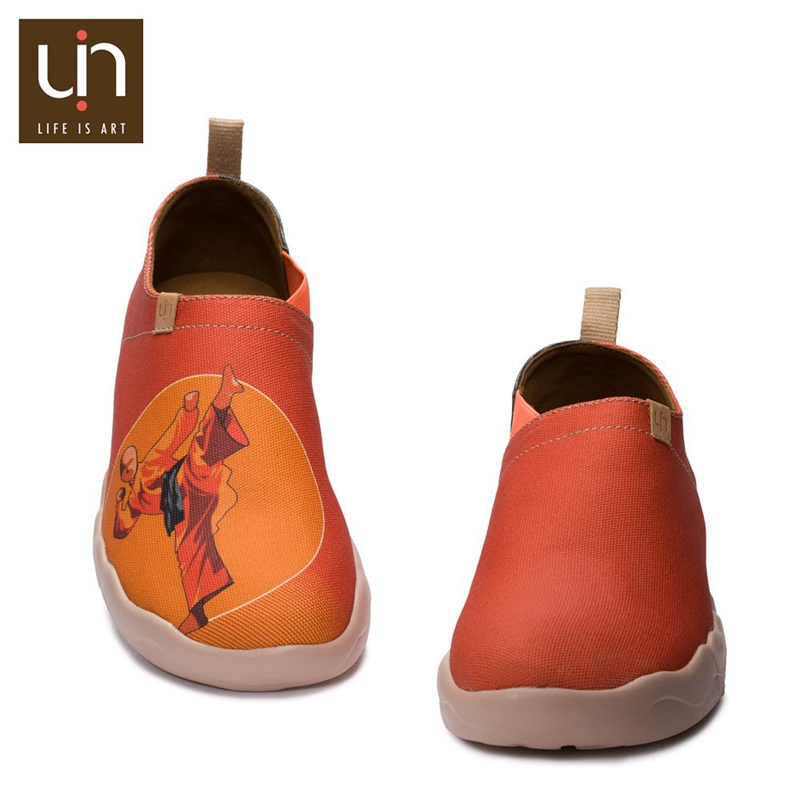 UIN 2016 newest style kungfu Guy custom made high quality orange perfect steps outdoor shoes