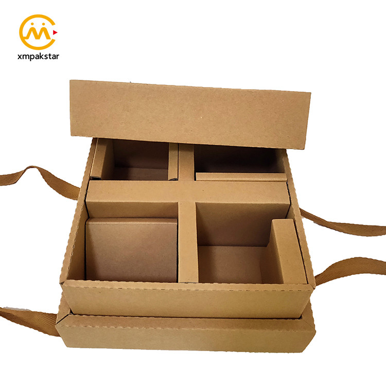 Custom printed top and bottom large cardboard craft gift set paper snack packaging box