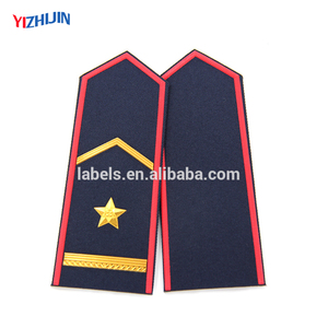 Factory price uniform shoulder badge with gold bullion from manufacturer