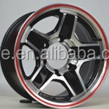 Hot sale 15 inch and 16 inch red line alloy wheel