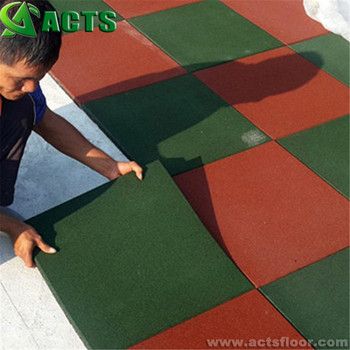 Sbr Mtaerial Recycle Rubber Outdoor Paving Tiles