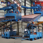 Q69 roller bed shot blasting machine for steel beam structure cleaning equipment