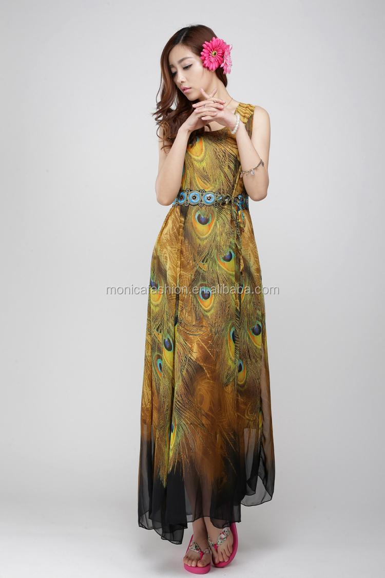 Wholesale Plus Size Bohemian Maxi Dresses 2016 Women Summer ...